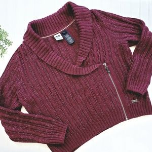 Harley-Davidson Cranberry Zip Sweater size 1W
